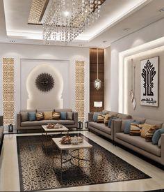 Influences of Moroccan Style Ceiling Design Living Room, Home Room Design, Home Design Decor, Interior Design Living Room, Living Room Designs, Moroccan Home Decor, Moroccan Interiors, Moroccan Style, Moroccan Design