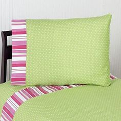Sweet Jojo Designs Olivia Collection Sheet Set, Pink Green And White