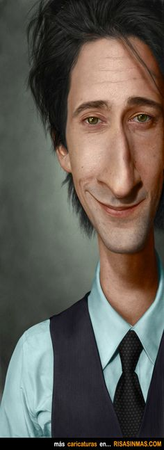 Caricature of Adrien Brody. Painted in Photoshop Adrien Brody Caricature Funny Caricatures, Celebrity Caricatures, Cartoon Faces, Funny Faces, Adrien Brody, Caricature Drawing, Best Portraits, Wow Art, Photoshop Cs5