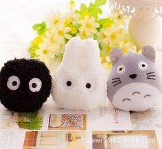 "3pcs/lot  4"" 10cm New Totoro Plush Toys Car Accessories, Plush Stuffed TOY Phone Strap BAG Pendant,Kawaii Mini Neighbor TOTORO -in Stuffed & Plush Animals from Toys & Hobbies on Aliexpress.com 