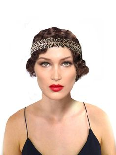 Embroidered Flapper Headband Women Gold Black by FoldedRoses