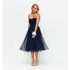 Navy Mary Embellished Tulle Midi Dress - Womens Fashion | Forever New