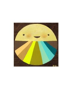 Roundy Coloured Rays - Laura George