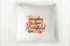 Fall Pillow Cover  Pumpkin Pillow by TheSeafoamCottage on Etsy