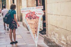Viernes de Foto: Un paseo por Barcelona y por el Market Lost. Chuches de jamón de bellota. Barcelona. Turista, Robado. Lady Selva fotografia. Street photography