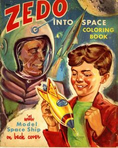 Zedo Into Space Coloring Book