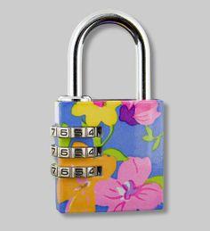 PYLONES - Padlock cadenas flower lock blue 6d2600d1fbed