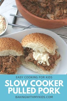 This easy slow cooker pulled pork is so succulent as well as simple to make. It's the perfect family meal. #dinner #slow cooker #pulled pork #bbq #easy #easy recipe #crock pot #family dinner #family meal #fussy eaters #how to make Quick Weeknight Dinners, Easy Family Dinners, Family Meals, Cooking With Kids Easy, Pork Casserole, Fussy Eaters, Cooking Ingredients, Pulled Pork, Slow Cooker Recipes