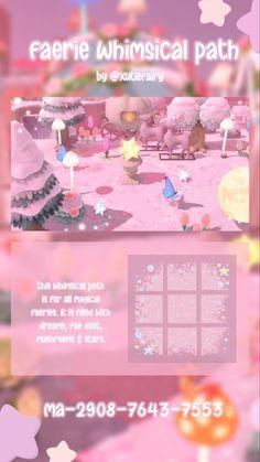 Animal Crossing Guide, Animal Crossing Villagers, Pink Island, Nintendo Switch, Pastel Designs, Path Design, Motifs Animal, Animal Games, Island Design