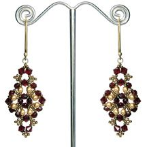 Lady Jane's Earrings Pattern at Sova-Enterprises.com Lots of free beading patterns and tutorials.