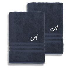 Linum Home Textiles Denzi Cotton Bath Sheets - Set of 2 Twilight Blue - DNZ50-2BS-LF-00-B