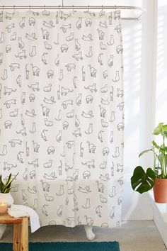 Cats Shower Curtain | Urban Outfitters