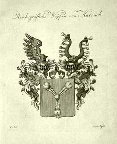 The Harrach Project, Harrach coat of arms copper etching