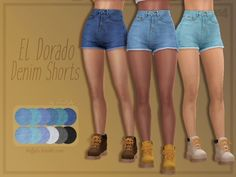 A pair of high-waisted denim shorts for the warmer days. Found in TSR Category 'Sims 4 Female Everyday' A pair of high-waisted denim shorts for the warmer days. Found in TSR Category 'Sims 4 Female Everyday' Sims 4 Mods Clothes, Sims 4 Clothing, Sims Mods, Maxis, The Sims 4 Pc, Sims 4 Mm, Vêtement Harris Tweed, High Waisted Shorts, Waisted Denim