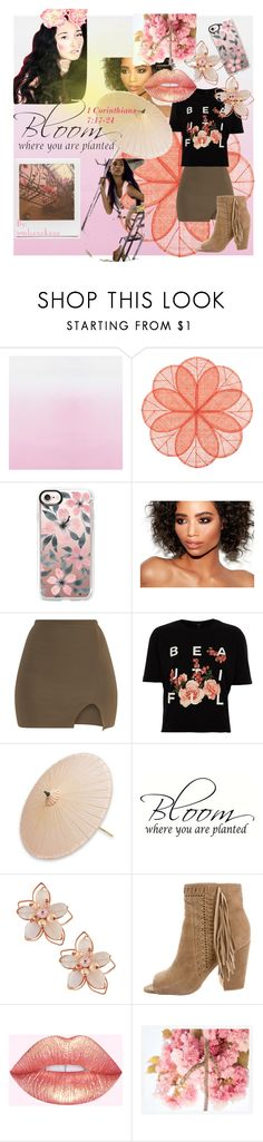 """""""Bloom"""" by jojohanakana on Polyvore featuring Deborah Rhodes, Casetify, River Island, NOVICA, NAKAMOL, Impossible Project, Rebecca Minkoff, Pottery Barn, Pink and pretty"""
