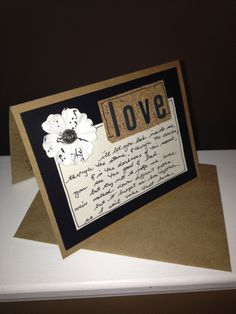 wedding mothers day valentines DIY greetings card