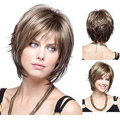 Short Hair With Layers, Short Hair Cuts, Short Bangs, Bob Hairstyles, Straight Hairstyles, Haircuts, Layered Hairstyles, Medium Hair Styles, Curly Hair Styles