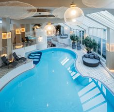 Indoor Pool vom Posthotel Achenkirch neu refreshed 2019. Atrium, Post Hotel, Spa, Restaurant, Indoor, Outdoor Decor, Home Decor, New Construction, Interior