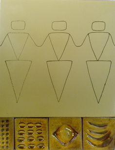 Egipcias y azulejos color mostaza