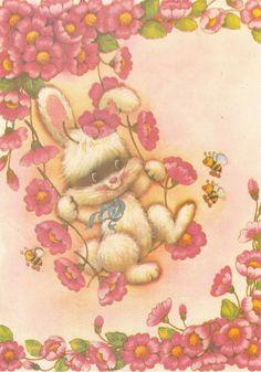 Collectible Stationary #papeldecarta Papel de Carta #vintage #bunny