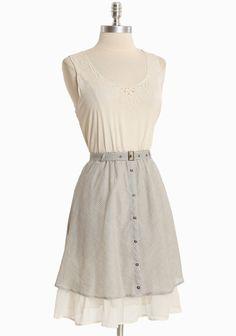 Misty Morning Striped Dress   Modern Vintage Summer Dresses $43