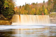 tahquamenon falls..we took the hike between the falls and it was 5 miles each way!!  IT WAS fun!