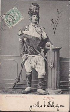 Zeybek / Ziebek / Zeibek from İzmir, Zeybecks were irregular militia and guerrilla fighters living in the Aegean Region of the Ottoman Empire from late 17th to early 20th centuries, of Thracian origin.