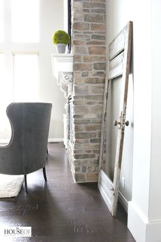 Fireplace brackets and brick House of Silver Lining 650HT40
