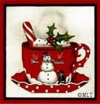 Melissa Shirley Designs | Hand Painted Needlepoint | Jester Cup o' Cheer ©Mary Lake-Thompson