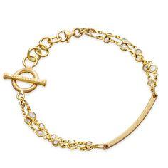 18 carat yellow gold Kaleidoscope Bracelet with rough diamonds, from Carolina Bucci available at Astley Clarke $3000