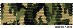 Схемы браслетов - камуфляж (мозаика и ткачество)   - Схемы для бисероплетения / Free bead patterns -