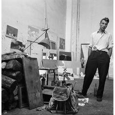 Nicolas de Staël in his atelier, rue Gauguet, Paris, 1954