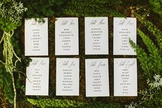 Live seating chart by Hello Gem   Photography by Benj Haisch