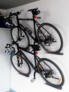 Are you a person that has a messing garage that is not prepared. Below are 42 garage storage ideas that will definitely aid you prepare your garage like a champ. Hanging Bike Rack, Bike Hanger, Bicycle Rack, Bicycle Stand, Hanging Storage, Wall Storage, Garage Organization Systems, Diy Garage Storage, Organization Hacks
