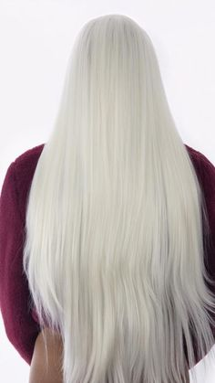 Get this amazing colour and length in seconds. With these inches and amazing Kim K inspired white blonde, this unit a game changer. Can I get a Yasss to no damage, bleach blonde hair! Full Lace Front Wigs, Front Lace, Straight Hairstyles, Cool Hairstyles, Bleach Blonde Hair, Wigs Online, Natural Hair Styles, Long Hair Styles, Wigs With Bangs