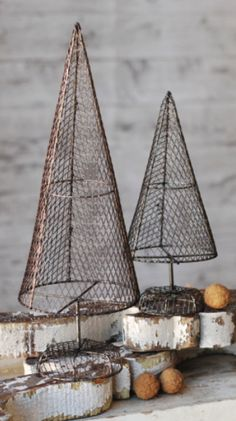Vintage Wire Christmas Trees