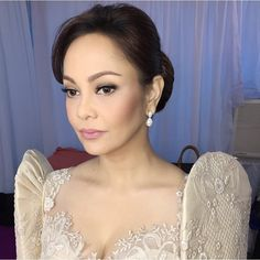 The First Daughter Pictorial/Taping with Hair by Styled by Modern Filipiniana Gown, Filipiniana Wedding, Wedding Gowns, Philippines Fashion, Dresser, Filipina Beauty, Fresh Makeup, First Daughter, Couture Sewing
