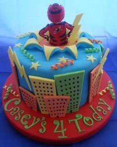 My Sons Power Ranger Cake - CakesDecor Gateau Power Rangers, Power Rangers Birthday Cake, Power Ranger Cake, Power Ranger Party, 4th Birthday Cakes, Birthday Ideas, Cake Design Inspiration, Crazy Cakes, Novelty Cakes