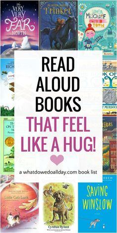 Find the perfect family read aloud book to share for heartwarming snuggle time with the kids. Best children's books for cozy read aloud time! Read Aloud Books, Good Books, My Books, Books That Are Movies, Best Children Books, Childrens Books, Helping Children, Kids Reading, Reading Lists