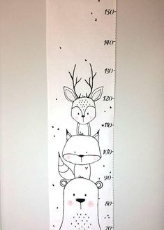 Babyzimmer Waldtiere 66 Neue Ideen Baby room forest animals 66 New Ideas - Colorful Baby Rooms Baby Room Decor, Bedroom Decor, Baby Bedroom, Bedroom Storage, Painted Wardrobe, Growth Chart Ruler, Fabric Growth Chart, Growth Charts, Diy Baby Gifts