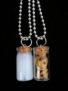 Milk and Cookie Best Friends Necklace by IncredInedible on Etsy