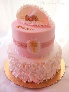 Christening cake, angel wings
