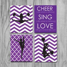 Cheerleading Gift Cheer Art Cute Cheer Gift by gymnasticsgifts Cheerleading Bedroom, Cheerleading Crafts, Cheerleading Quotes, Cheer Quotes, Cheer Coaches, Cheer Stunts, Cheer Dance, Cheer Birthday Party, Cheer Party