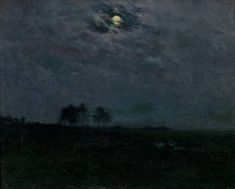"""A Summer Night,"" Charles Harold Davis, ca. 1910, oil on canvas, 21 × 25"", Montclair Art Museum."
