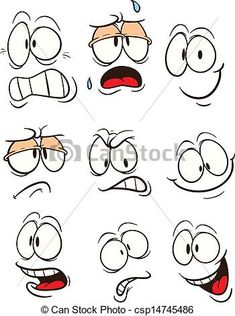 Cartoon faces with different expressions. Vector clip art illustration with simple gradients. All in a single layer. Cartoon faces with different expressions. Vector clip art illustration with simple gradients. All in a single layer. Doodle Drawings, Easy Drawings, Doodle Art, Simple Cartoon Drawings, Drawing Cartoons, Art And Illustration, Free Illustrations, Character Illustration, Cartoon Faces Expressions
