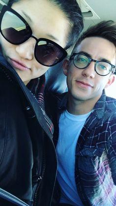 "kevinmchale-news: ""Kevin and Jenna Ushkowitz headed to Becca Tobin's wedding (December 3, 2016) """