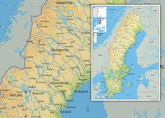 Sweden Physical Map Wall Maps, Vinyl Banners, Sweden, Physics, Diagram, Paper, Prints, Physique