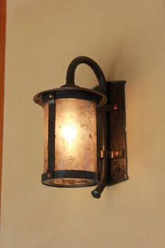 Copper And Mica Carriage Lamp Hand Forged Donna Matzas Antique Lamps