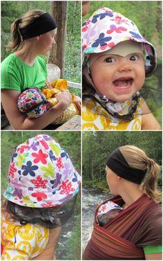 Täältä löytyy hyvä vinkki, miten tehdään hyttyshattu vauvalle.