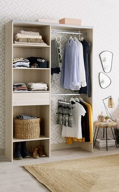 65 ideas for small clothes closet organization cabinets Dressing En Kit, Clothes Cabinet, Cool Kids Bedrooms, Bedroom Girls, Bedroom Ideas, Bedroom Decor, Casas Containers, Linen Closet Organization, Laundry Room Design